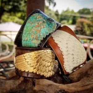 Angel Wing Leather Bracelets